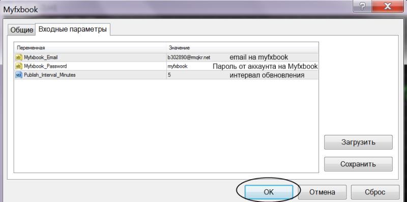myfxbook ea settings