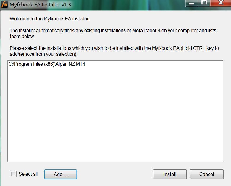 myfxbook ea installer
