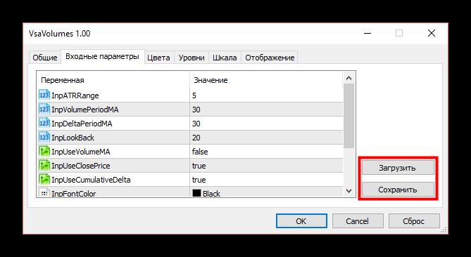 Как установить индикатор в MetaTrader 5. Изменение настроек индикатора 2