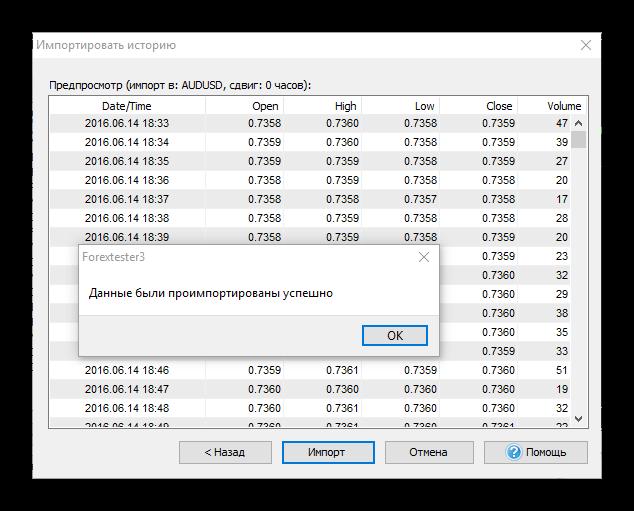 Урок по работе с Forex Tester. Импорт истории из MT4