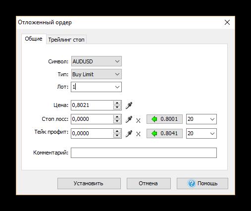 Урок по работе с Forex Tester. Установка отложенного ордера.