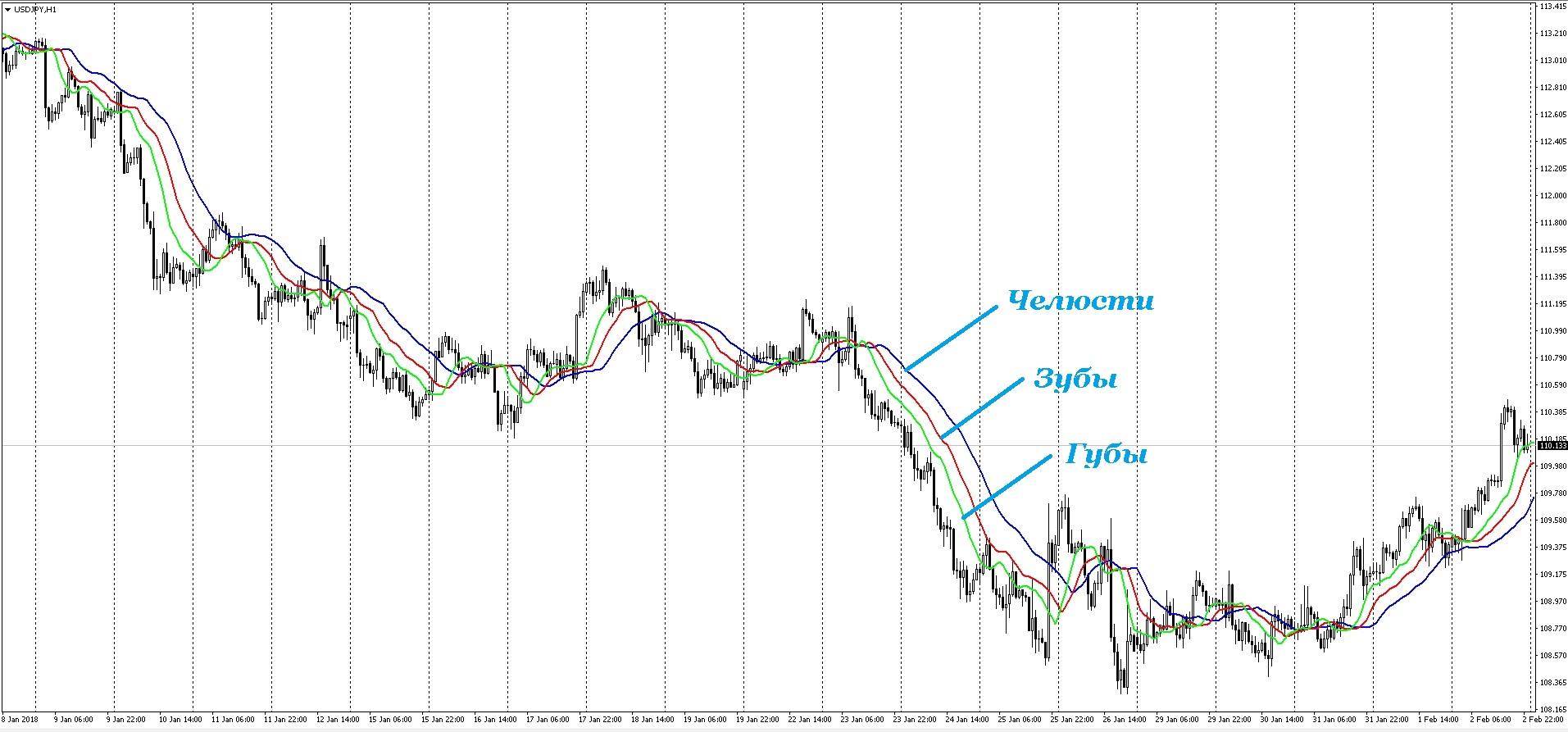 Хищник на рынке — индикатор Аллигатор